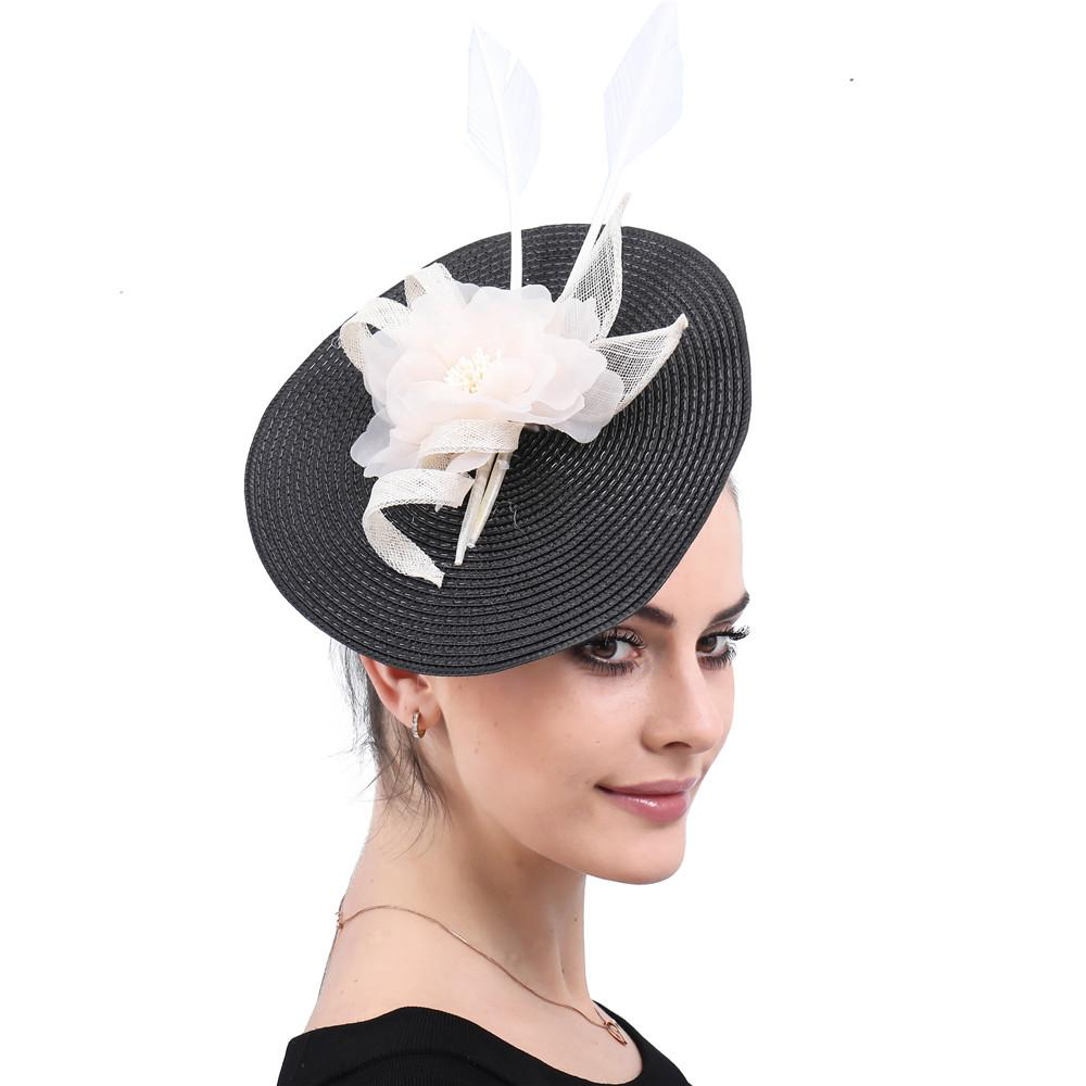 278fc970b797e 2019 Ivory Fascinator Hats Elegant Women Feather Headwear Ladies Headband  For Kentucky Derby Cocktail Wedding Party Hair Accessories From Dianbead