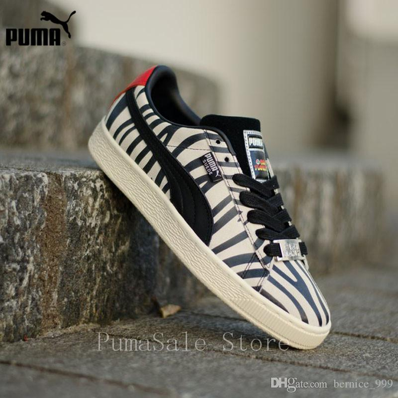 PUMA Suede Classic X Paul Stanley Women Sneakers 36628801 Low Top Badminton Shoes Women 50th Anniversary Sports Shoes Size 36 40