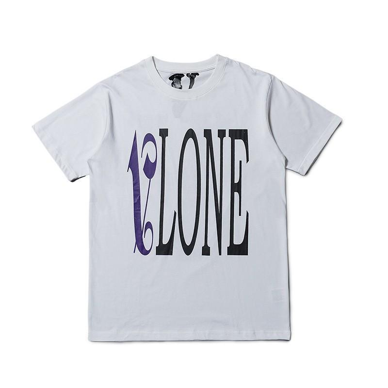 cd71940b 19SS Vlone X Palm Angels Fashion Tee Flame Letter Big V Short Sleeve Men  Women High Quality Cotton T Shirt HFBYTX268 One Tee A Day Random Graphic  Tees From ...