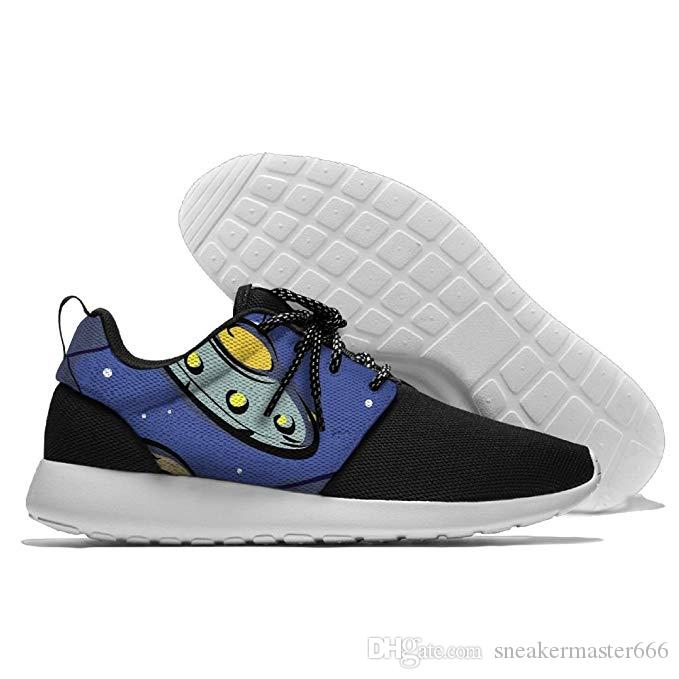 b93cd28a9de UFO Flying Aliens Funny Mens Breathable Walking Shoes Sports Shoes Best  Womens Running Shoes Running Shoes Mens From Sneakermaster666