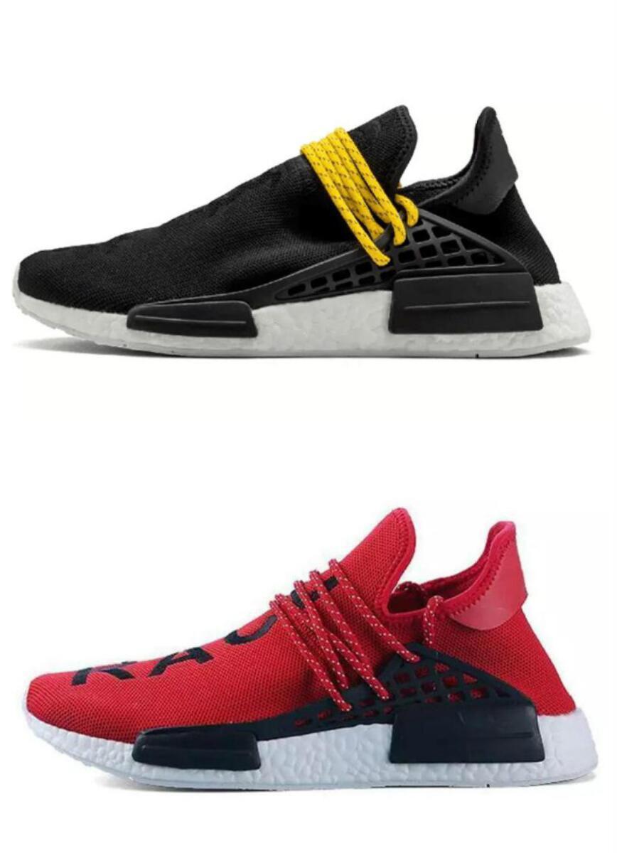the latest 453cd ebe06 Human Race for menFactory Real Yellow Red Black Orange Men Pharrell  Williams X Human Race Shoes Sneakers With box Human Race