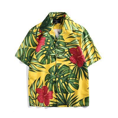 11c1fee6 Mens Hawaiian Shirt Male Casual Camisa Masculina Toucan Printed ...