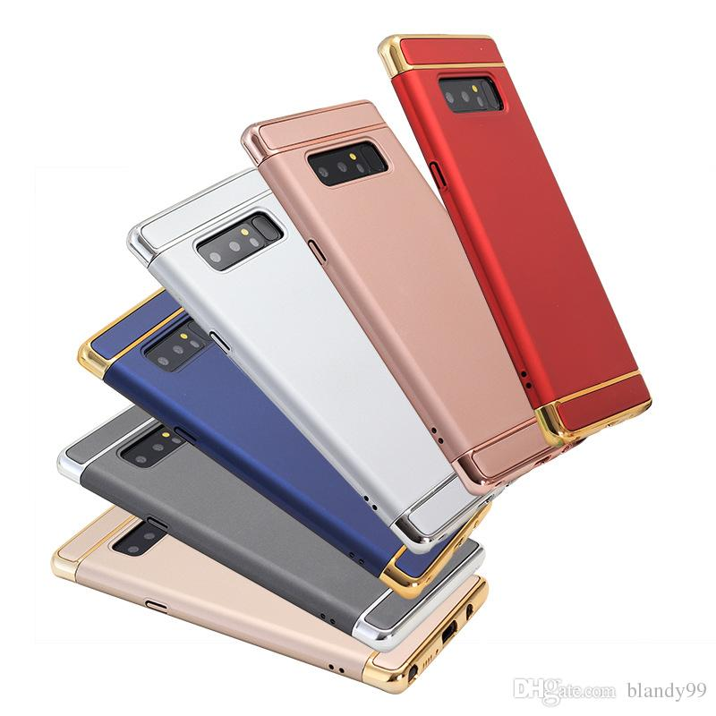 Electroplated 3 in 1 cover Case For Samsung S10 5G e S9 plus A10 A20 A30  A50 A70 A40 M30 M20 M10 2018