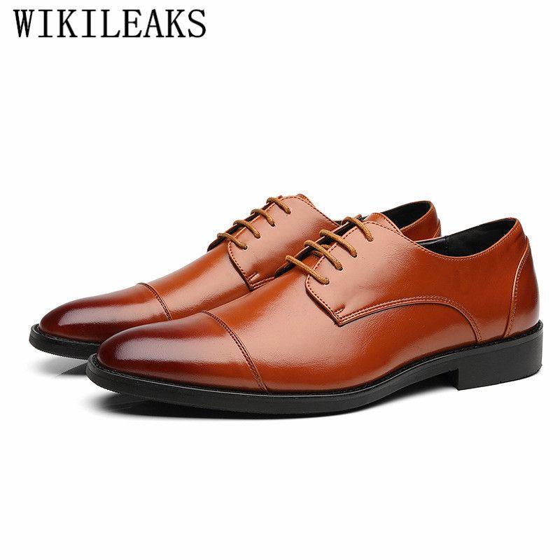 7fb5f2675 Compre Novos Homens Se Vestem Sapatos De Couro De Alta Qualidade Homens  Sapatos Moda Marca De Luxo Lace Up Formal Sapatos De Festa De Casamento  Homem ...