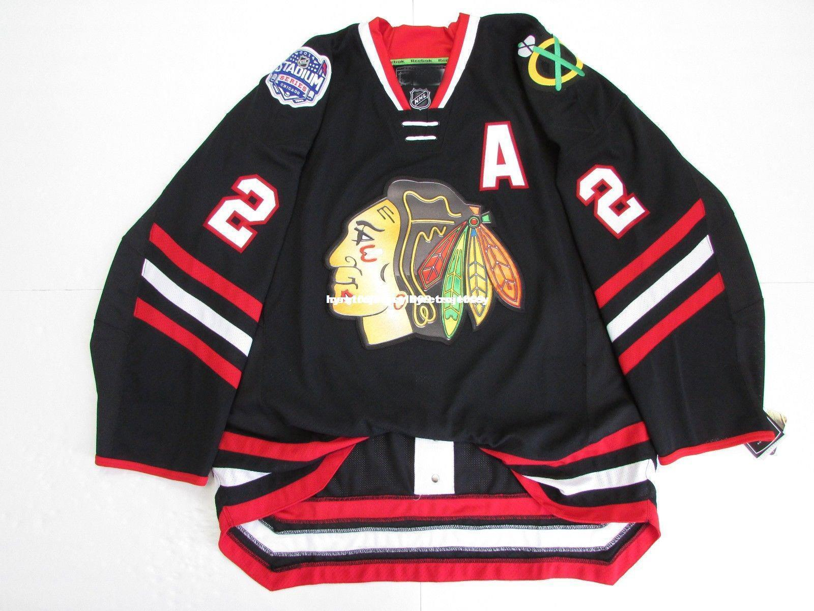 de3c2c97674 2019 Cheap Custom KEITH CHICAGO BLACKHAWKS 2014 STADIUM SERIES EDGE 2.0  JERSEY Stitch Add Any Number Any Name Mens Hockey Jersey GOALIE CUT 5XL  From ...
