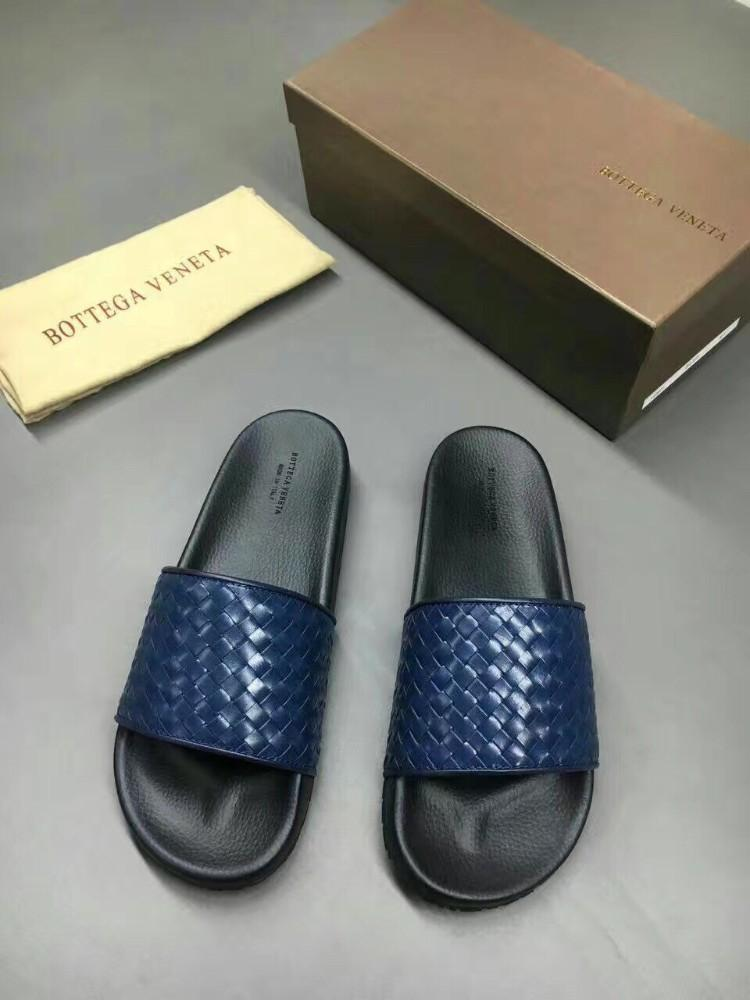 2019 new men's high-end slippers with imported high-grade fabrics, comfortable and light, imported woven leather