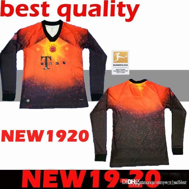 2019 2020 Top Deportivo MANGA LARGA Camisas Adultas De Bayern Munich  LEWANDOWSKI JERSEYS DE FÚTBOL Hummels Ribéry Cuarta Camiseta De Fútbol  Excepcional Por ... 51a4502604108