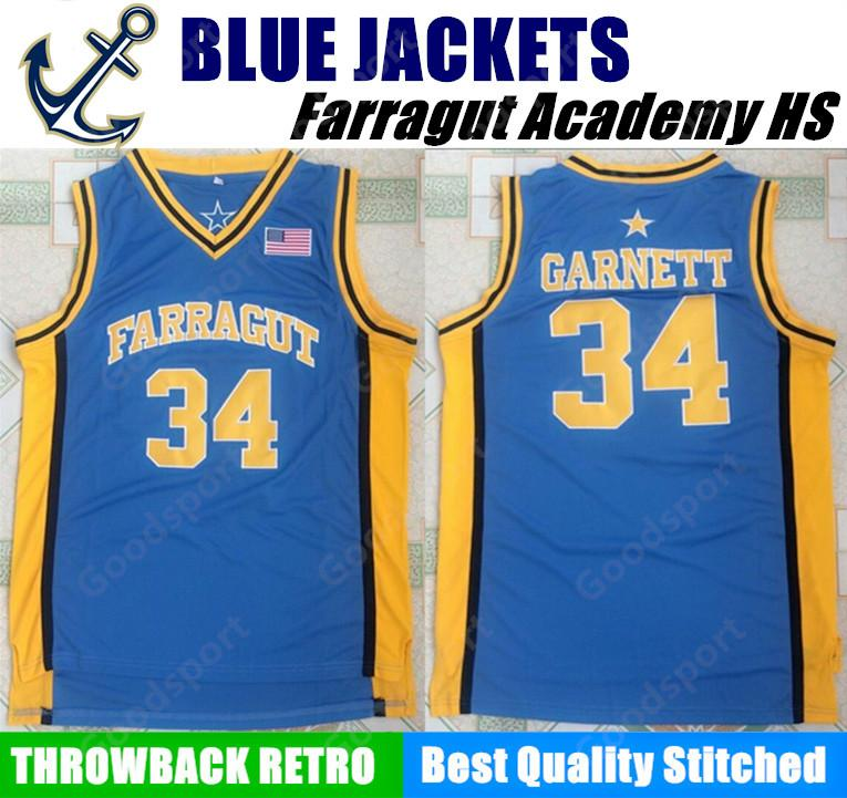 HOT Farragut Academy BLUE JACKETS HIGH SCHOOL 34 Kevin Garnett ... eaa971693