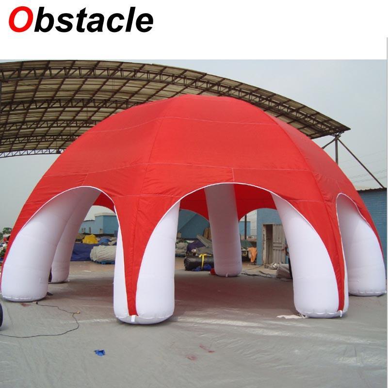 2019 Hot Sale 10ml 10mw 5mh Red Inflatable Tent With Removeable