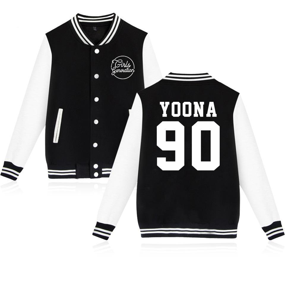 Girls Generation Uniform Kpop Idol New Long Sleeve Women Baseball Jacket  Women/Men Girls Generation Winter Coats Plus Size 4XL