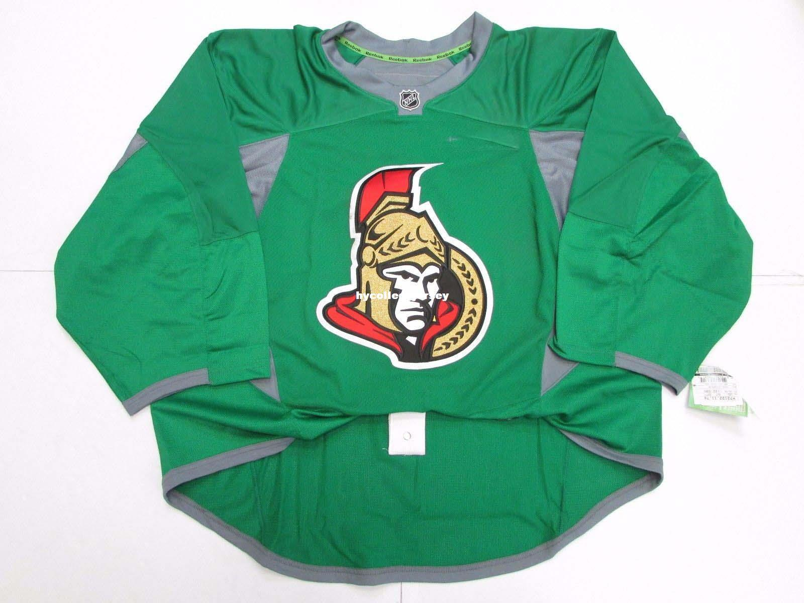 promo code 50496 13b0c Cheap wholesale Custom OTTAWA SENATORS GREEN EDGE PRACTICE JERSEY GOALIE  CUT 60 Mens Stitched Personalized hockey Jerseys