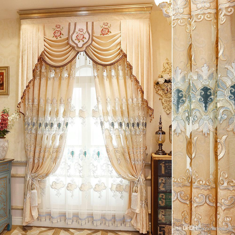 Tenda tende ricamate stile europeo Tende camera da letto soggiorno Tende da  villa prodotti finiti personalizzati
