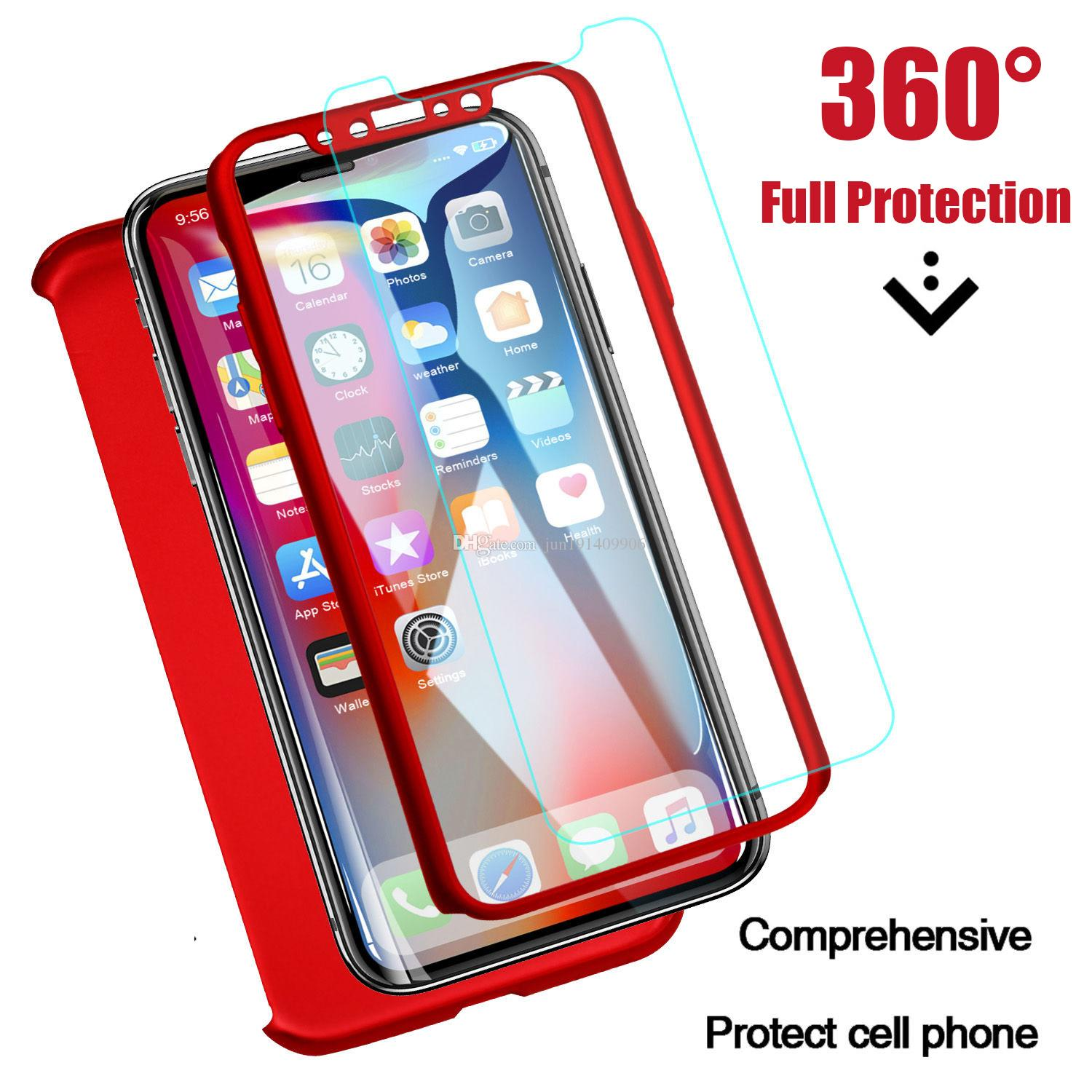 360 Full Protective Case For Iphone 8 7 Plus 6 6s Case X Xr Phone Cases For Iphone Xs Max 6 S Plus With Screen Protector Glass Convenient To Cook Type-c Adapter