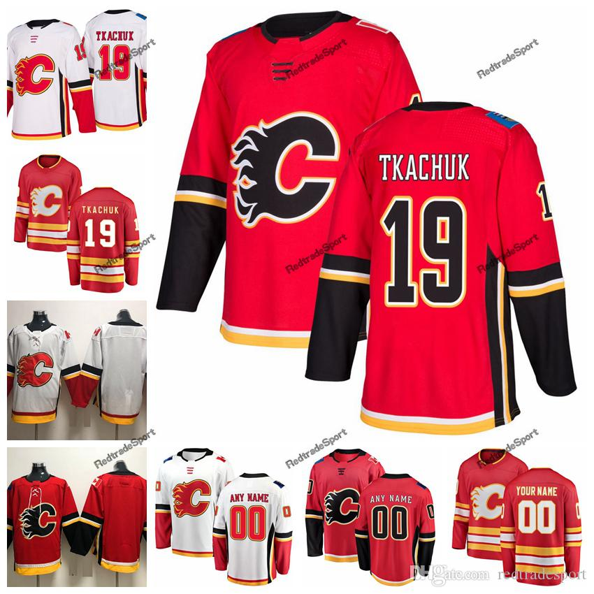 the best attitude 2a098 fc855 2019 Matthew Tkachuk Calgary Flames Hockey Jerseys Customize Name Alternate  Red #19 Matthew Tkachuk Stitched Hockey Shirts S-XXXL