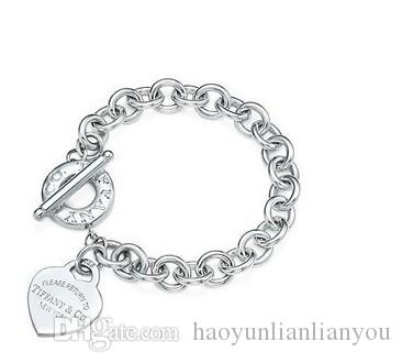 a7e8413ea68 %100 5AA Hot Tiffany925 Silver Fashion Jewelry Necklace And Bracelet  Original Packaging Gift Boxes TSWith Box HOT Custom Charm Bracelets Charms  For Bracelet ...