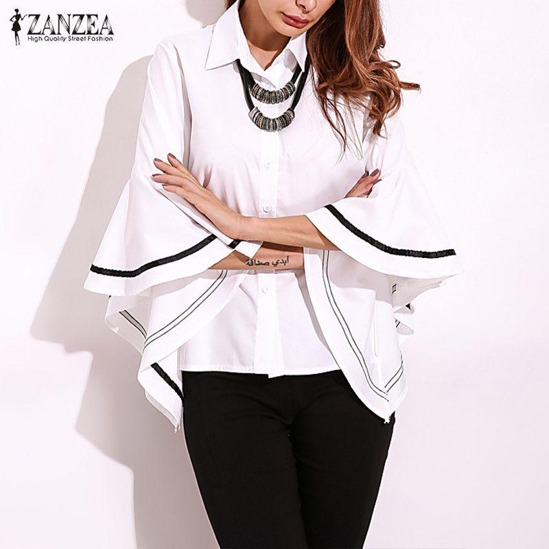 Women Casual Linen Blouse 2019 Zanzea Vintage Button Down Shirts Summer Cotton Top Female Short Sleeve V Neck Blusa Outerwears Great Varieties Blouses & Shirts