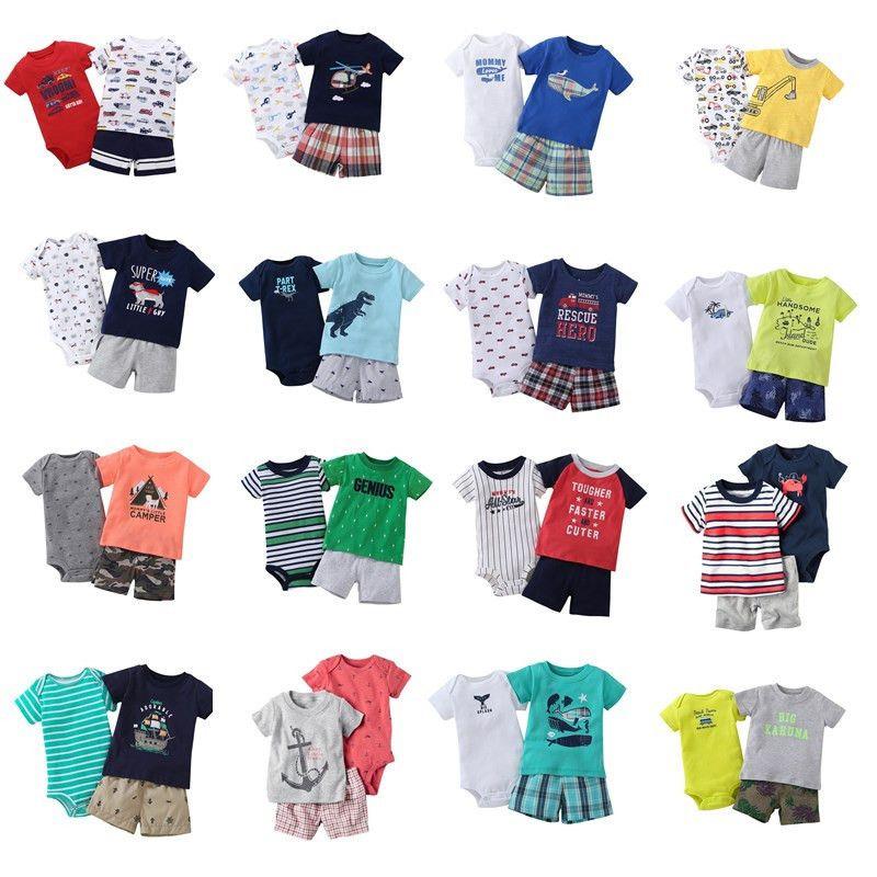 f0dd1a667 Compre 2019 Mameluco + Pantalones + Camisa 3 Unids Nueva Ropa De Bebé Juego  De Bebé De Verano Conjunto De Manga Corta Tops Recién Nacido Bebé Bebés  Niños ...