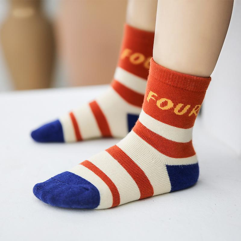 7355bacd685d Stitching Color Baby Boy Socks Children Autumn Winter Cartoon Socks For Girls  Kids For TO School Sport Clothes Striped Mismatched Socks Lace Socks From  ...