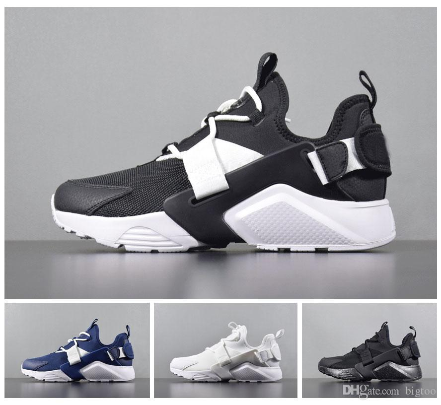 0fe6875ad237 2019 2018 New Air Huarache City Low Running Shoes Mens Trainers Womens  Sneakers Size 36 45 From Bigtoo