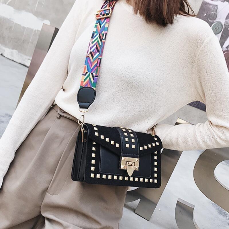 Mode crossbody taschen für frauen 2019 designer handtaschen hohe qualität pu leder geldbörsen und handtaschen niet luxus handtaschen sac