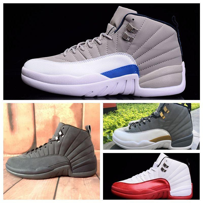 buy popular 66b7c 4d2cf JN012b hot sale cheap Men Women Sports outdoors shoes 12 Retro High MID OG  12S J Luxury designer basketball Sneakers Official Breathable