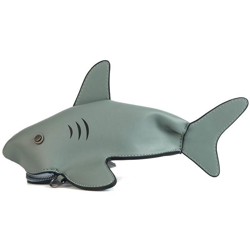 67123e0340 Good Quality Lovely Handbag Personality Cute Shark Shape Pu Leather  Shoulder Crossbody Bag Mini Clutch Messenger Bags Handbags Wholesale Bags  Over The ...