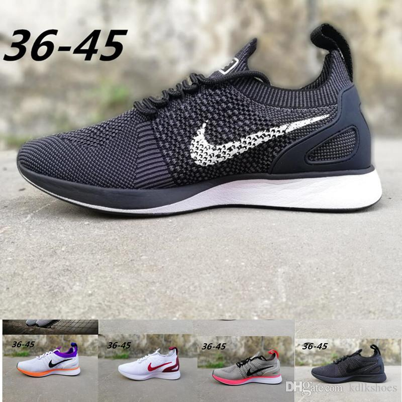 N11-4 Zoom Mariah Fly Racer 2 Women Mens Athletic all black red green Casual Shoes weaving Zoom Racer Sneaker Trainers Size 36-45 ER520
