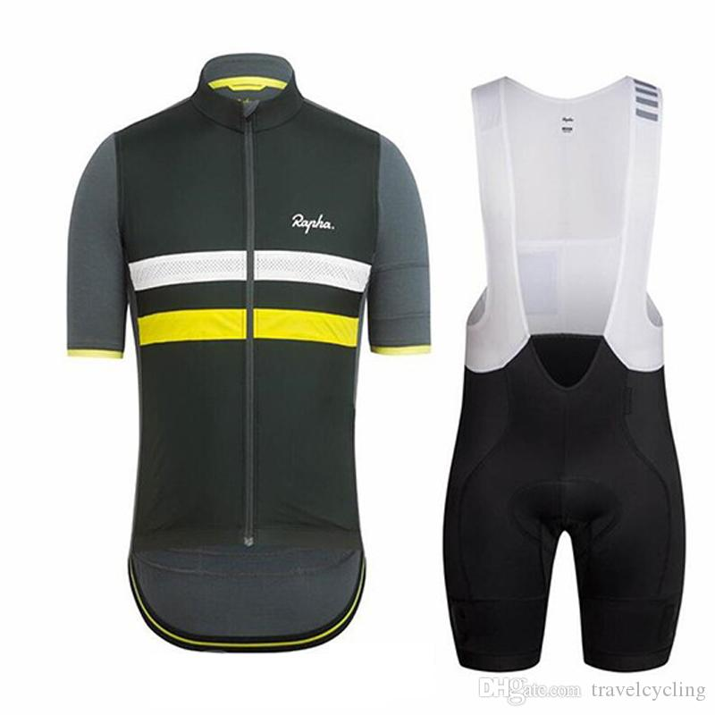 e4d8e8b743b 2019 New RAPHA Cycling Clothing Men Summer Bicycle Outdoor Sportswear Cycling  Jersey Bike Bib Shorts Set Racing Bicycle Clothes Y021602 Cycling Wear  Cycling ...