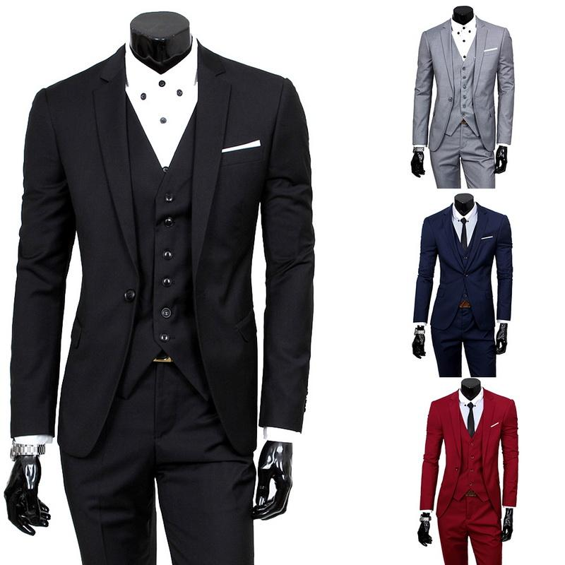 4dfba5ed042 2019 HEFLASHOR Mens Blazers Pants Vest Social Suit Thin Men Fashion Solid Business  Suit Set Casual Formal Costume Homme From Nicolan