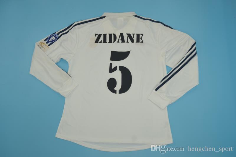 Compre 2002 Real Madrid Figo Zidane Raul Campeões Retro Futebol Jersys  Camisas De Futebol Maillot Camisa Futebol Maglie Calcio Camisetas De Futbol  De ... 82abbae0a25ab