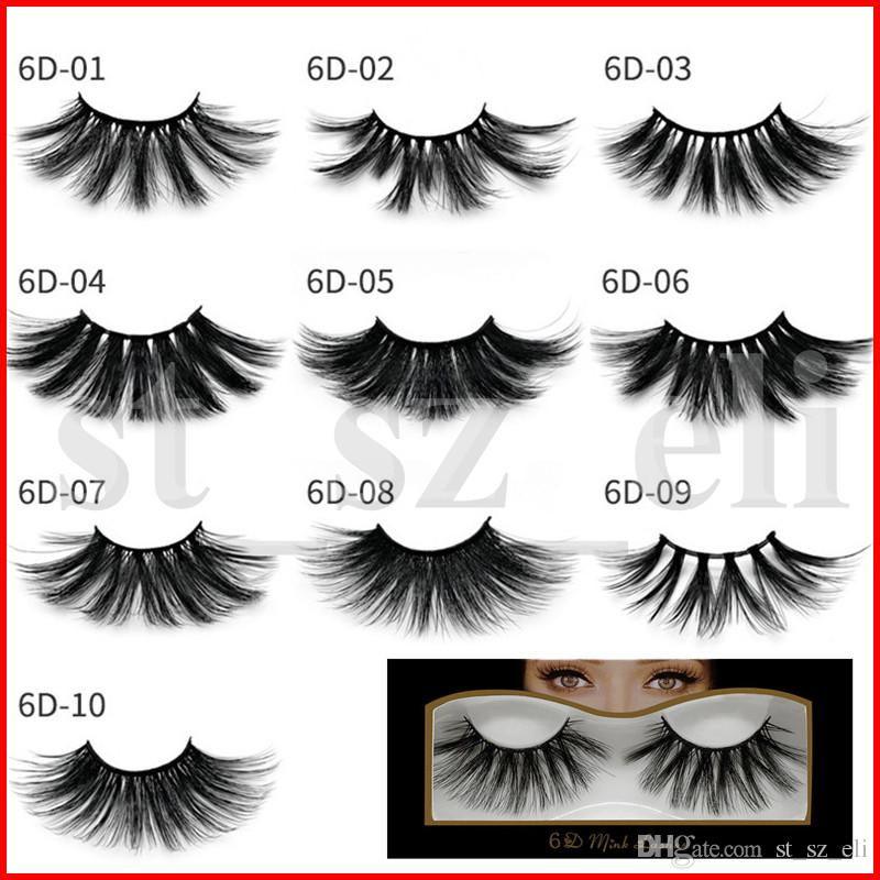 6D Mink Eyelashes 25mm Messy Cross Mink False Lashes Soft Natural Thick Eyelashe Eye Lashes Extension Beauty Tools