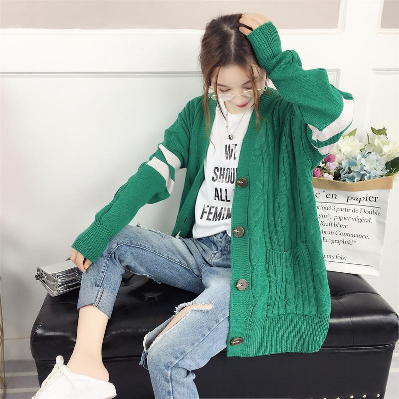c97c55171d 2019 Cardigans Sweaters Women 2018 Autumn Winter Casual Long Sleeve Button  Knitting Cardigan Vintage Loose Outwear Female Coat From Sincha