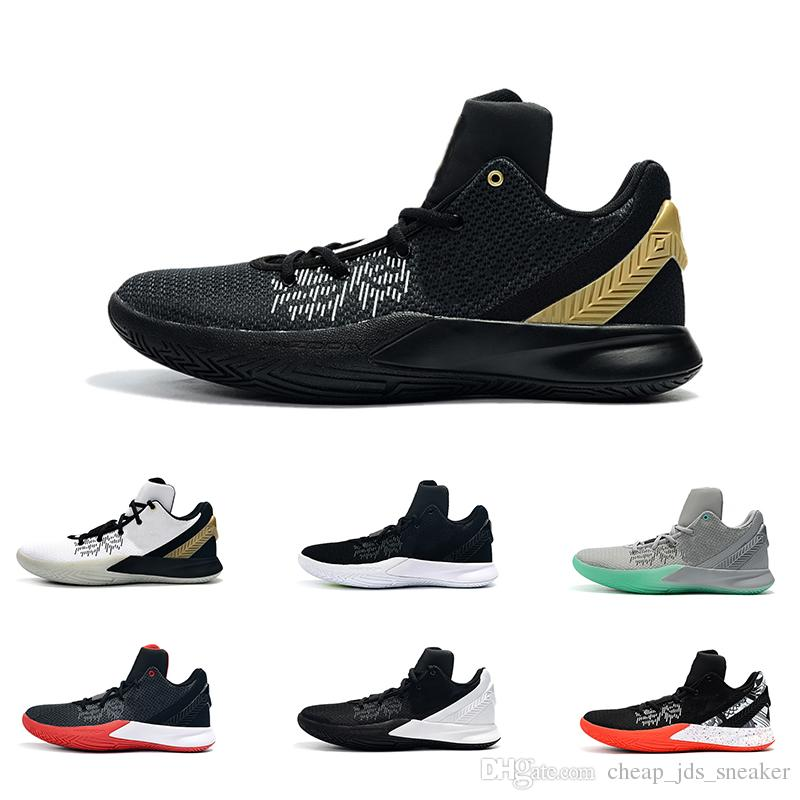 86f0a0fbbdb 2019 Men Kyrie Flytrap 2 Basketball Shoes Low Black White Gold Team Red  Yellow Youth Kids Kyries Irving Ii Sneakers Tennis Size 7 12 From  Cheap jds sneaker