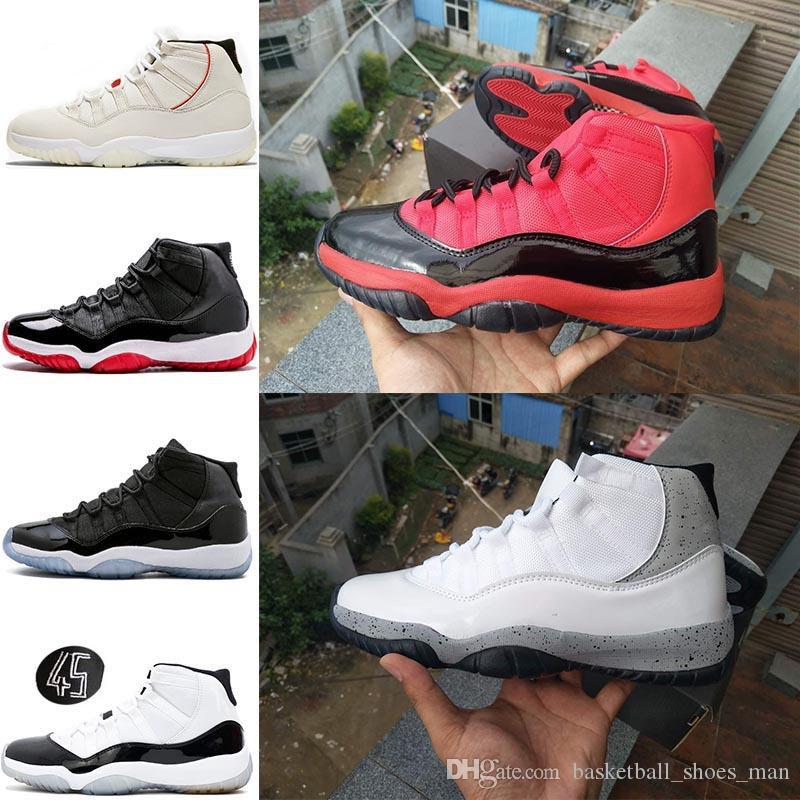 sports shoes d4d2a fa602 2019 11 11s Men Women Basketball Shoes White Oreo Concord 45 Red Black  Platinum Tint 11 Cap And Gown Bred Gamma Blue Sports Sneakers From ...