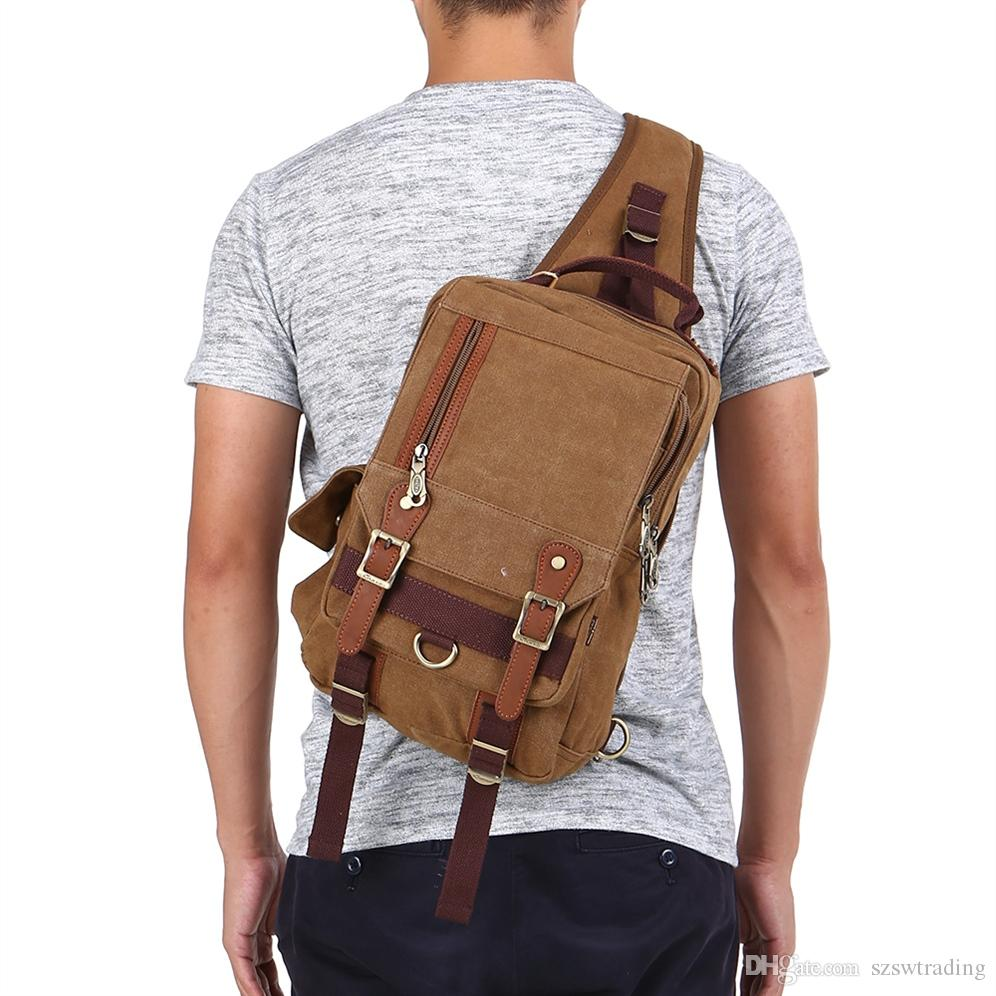 3f1743aeced8 Men Tactical Sling Bag Cross Body Shoulder Sling Backpack Travel Chest Bag  Outdoor Bags Camping Hiking Hunting Sports Backpack #767966