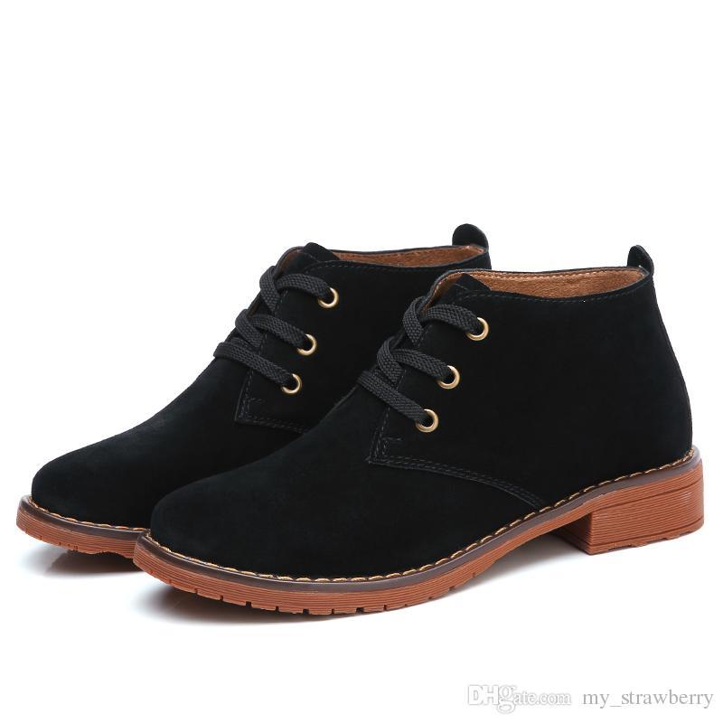 0313cccf09 Compre 2019 Modelos De Explosão Das Mulheres Ankle Boots Retro Martin Botas  De Couro Britânico Vento Rede Moda Feminina Vermelho Primavera E Outono  Botas ...