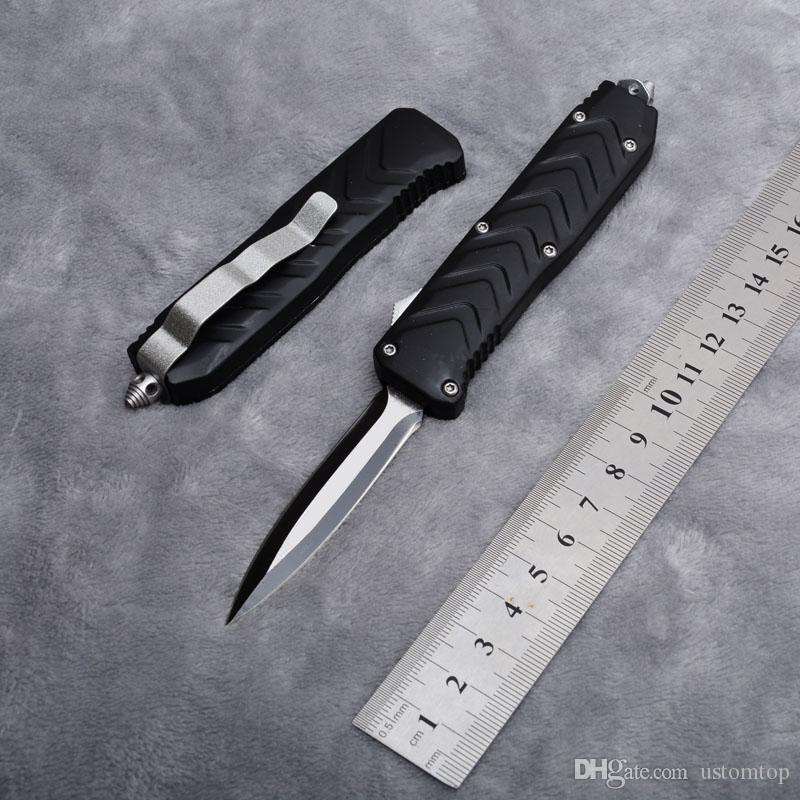 2019 Benchmade F121 Double Fine Double action Automatic Tactical knife 440  Blade Zinc aluminum alloy Handle Camping EDC Tools J74M R