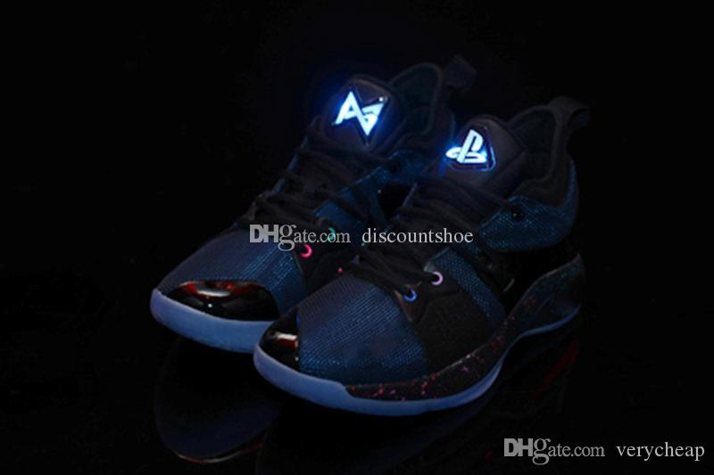 finest selection 29e21 e5e51 Free Shipping High Quality PG 2 Playstation shoes Mens Athletic PG2  Playstation shoes Cheap wholesale for sale us 7-12 come with box