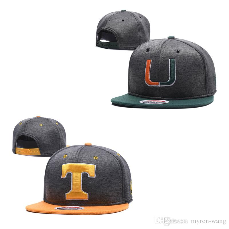 18cb46432abbc ... sale wholesale college football hats miami hurricanes caps texas  longhorns gray snapbacks hat adult and youth