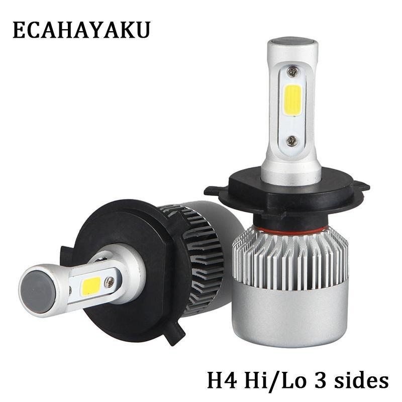 Led Bulbs & Tubes Lights & Lighting 1 Pair H4 Led H7 H11 H13 9005 H1 H3 9006 9007 Auto S2 Car Headlight Bulbs 72w 8000lm Car Styling Lights 6500k Led Automotivo