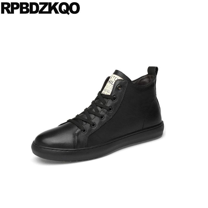 c6b77e9b18c07 Compre 47 Zapatos De Lujo Para 13 Hombres De La Marca De Zapatillas De  Deporte De Pista De Cuero Real De Alta Superior Skate Estilo De La Calle De  Estilo ...