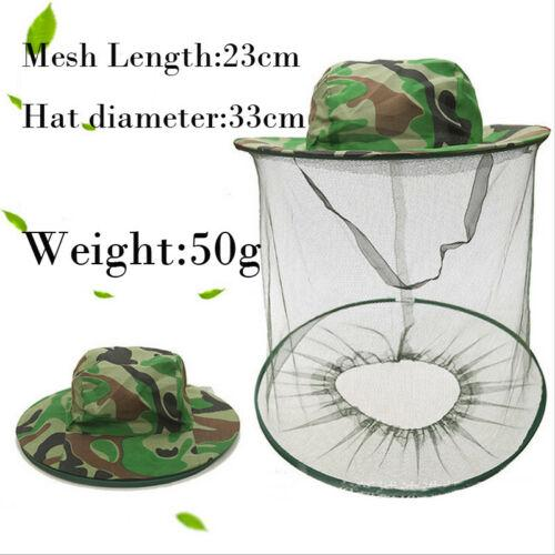 Fasion Unisex Pesca Chapéu de Sol Homens Mulheres Apicultura Hat Mosquito Bee Net Veil Face principal Protector Hat 3FS