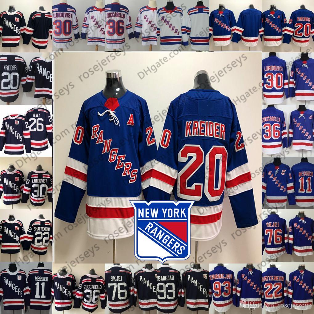 b934a17516c 2019 New York Rangers #20 Chris Kreider 22 Kevin Shattenkirk 26 Jimmy Vesey  76 Brady Skjei 93 Mika Zibanejad Men Women Youth Kid Jerseys From  Rosejerseys, ...