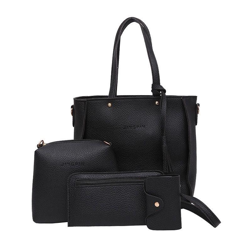 Acquista Adisputent Women Bag Set Top Handle Di Grande Capacità Femminile  Nappa Borsa A Tracolla Moda Borsa Delle Signore PU Crossbody   34454 A   34.77 Dal ... 4c24de61292