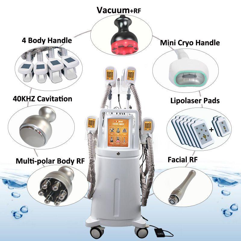 2019 Fat Freeze Cryolipolysis Slimming Machine Cryo Cellulite Removal Fat Treatment 5 Handles Coolplas Cryolipolysis Machines