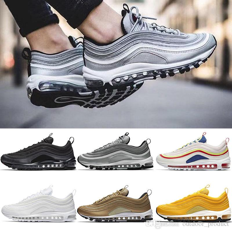 wholesale dealer 6c351 174d8 All Star Cushion 97 97s Mens Trainers Triple White Undefeated Black OG  Silver Bullet Bright Citron yellow Red Women designer shoes NIK