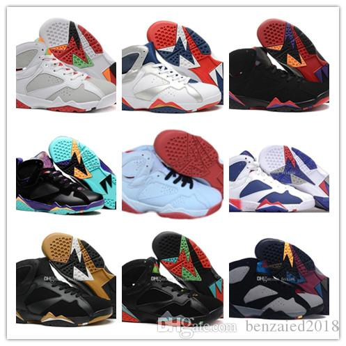 705e3921cf7863 2019 2019 Hot 7 Basketball Shoes Men 7s VII Purple UNC Bordeaux Olympic  Panton Pure Money Nothing Raptor N7 Zapatos Trainer Sport Shoes Sneaker  From ...