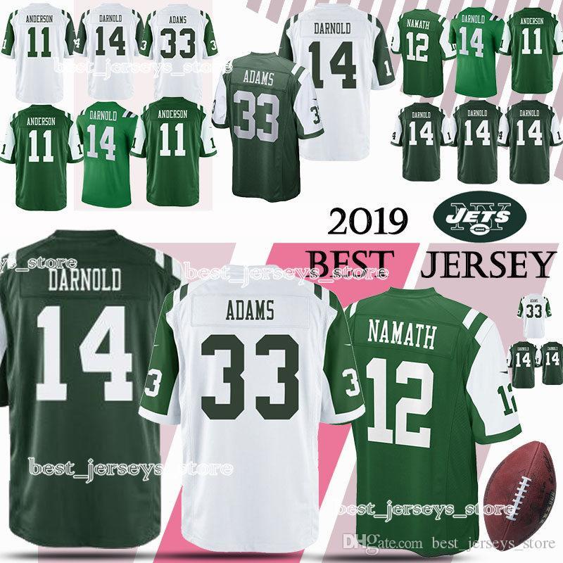 c1b8e172ad5 2019 New York Jerseys Jets 12 Joe Namath 14 Sam Darnold 33 Jamal Adams High  Quality 2019 Men Jersey Free Shopping From Best_jerseys_store, $21.82 |  DHgate.