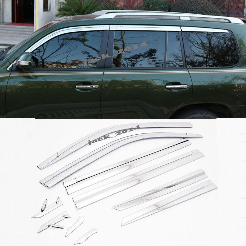 Chrome Window Sun Visor Vent Wind Rain Guard 4p Fit For 2010 2016 TOYOTA  Land Cruiser Custom Auto Parts Custom Car Accessories From Mingcar001 77edf865398