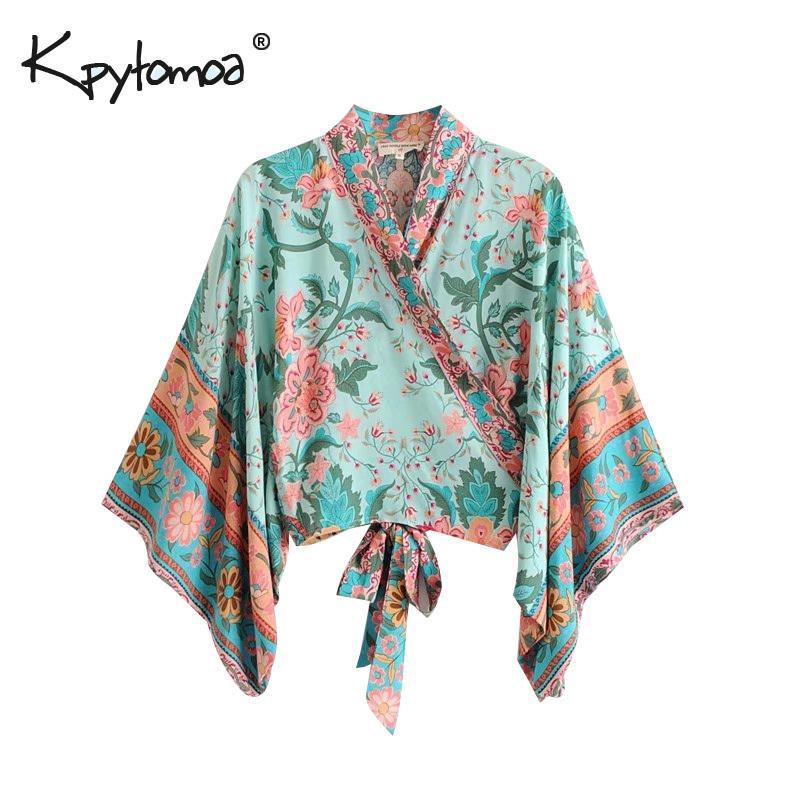 2c85427f42b 2019 Boho Chic Summer Short Tops Vintage Peacock Floral Print Kimono Women  2019 Fashion Batwing Sleeve Beach Shirt Blouse Blusa Mujer Q190401 From  Lizhang02 ...